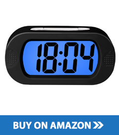 best travel alarm clock 2018 digital clock reviews. Black Bedroom Furniture Sets. Home Design Ideas