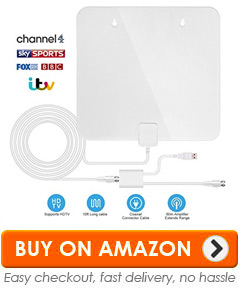 TV Aerial, HDTV TV Indoor Aerial Ultra-Thin Aerial antenna